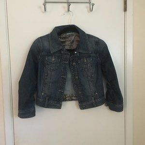 Guess by Marciano mid waist blue jean jacket